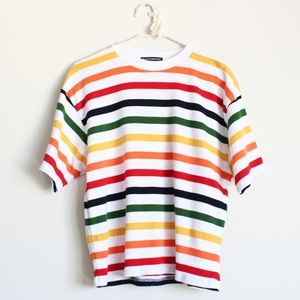 NWT Brandy Melville Rainbow Tee Top